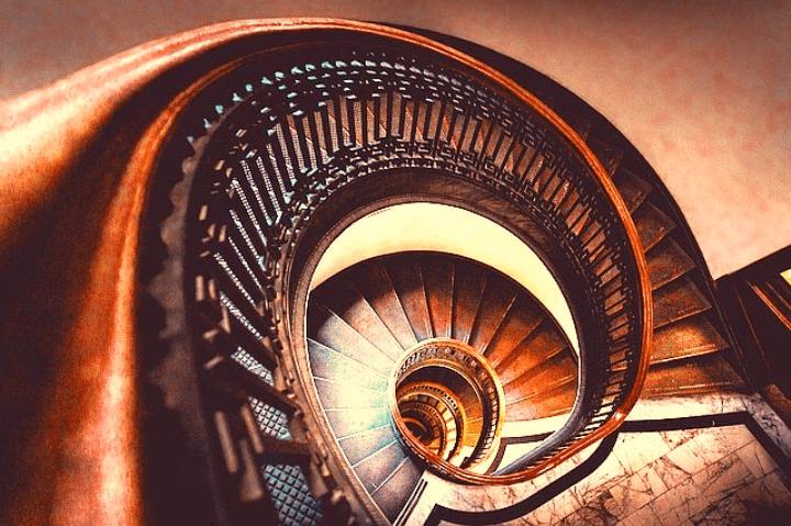 Die Verschiedenen Formen Einer Treppe Aus Polen
